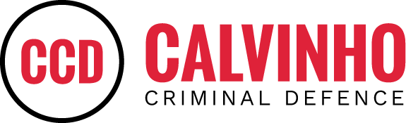 Calvinho Criminal Defence logo in black and red