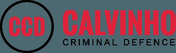 Calvinho Criminal Defence logo in black and red